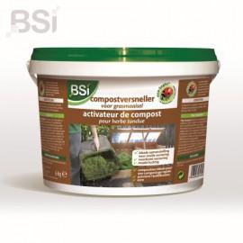 Compostversneller voor grasmaaisel