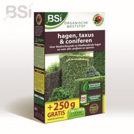 Meststof Bio Hagen, Taxus & Coniferen - 1 kg + 250 gr gratis